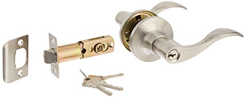 Constructor CON-PRE-SN-ET Prelude Entry Lever Door Lock  with Knob Handle Lockset, Satin Nickel (Lockset Nickel)
