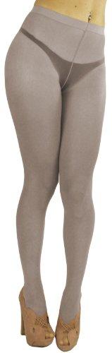 Non Run Pantyhose - ToBeInStyle Women's Control Top Pantyhose w/ Non-Run Design & Reinforced Toe - One Size - Gray