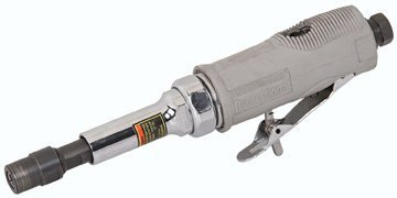 Variable Speed Air Die Grinder with 3 inch Extension and 11mm hex wrench, one 17mm hex wrench and one 1/8 collet
