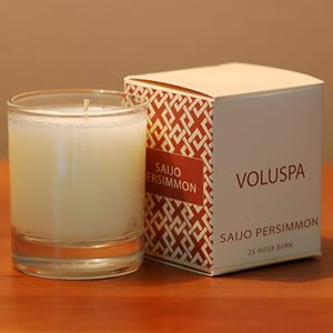 Voluspa Creme Votive Candle in Saijo Persimmon ()