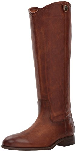 - FRYE Women's Melissa Button 2 Riding Boot Cognac 8.5 M US