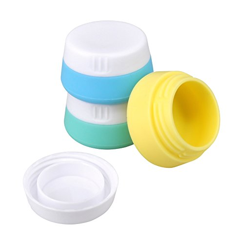 Price comparison product image Silicone Cream Jars Travel Accessories Containers with Hard Sealed Lids 20ml Per Piece 3 Pieces for Face Hand Body Cream