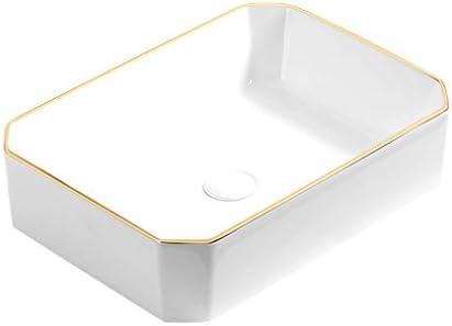 WJ 洗面台 バスルームの洗面台、セラミックプノンペン(タップ無し)カウンタ上流域ホーム浴室技術流域単一流域、利用可能な2色 /-/ (Color : A)