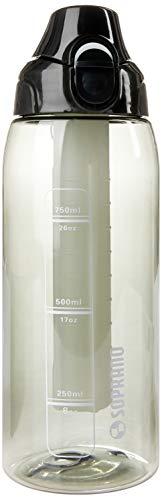 Squeeze 750ml com Tubo de Gelo, Soprano, 0540, Preto, Pequeno
