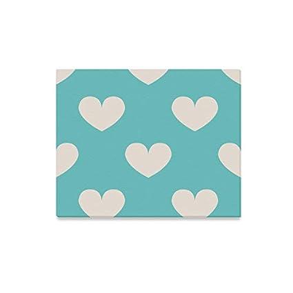 Amazon Com Wall Art Painting Light Blue Polka Dot Heart Clipart