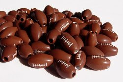 JOLLY STORE Crafts Football Beads 60pc ()