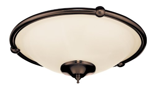 Emerson Ceiling Fans LK53ORB Low Profile Damp Light Kit for Ceiling Fans, Candelabra ()