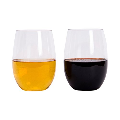 Wynum Unbreakable Stemless Wine Glasses  16 Ounce  Set of 4 (Large Image)