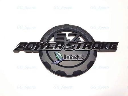 Taroal 6.7L POWER STROKE TURBO DIESEL B20 Trunk Emblems Badge Fender Black