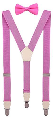 CEAJOO Baby Girls Bow Tie and Suspenders Set Adjustable Y Back 24