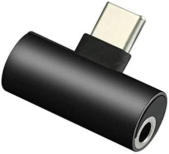 Adaptador USB-C a Conector de Auriculares de 3,5 mm Compatible con MotoZ, Huawei Mate 10 Pro Xiaomi 6 Nubia Z17/ Black Dragon Trading