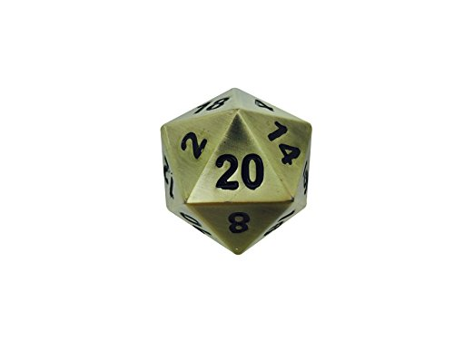 45mm Full Metal D20 Norse Foundry Bronze Dragons Scale - The Boulder RPG D&D Polyhedral Dice ...