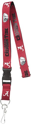 Pro Specialties Group NCAA Alabama Crimson Tide Two Tone Lanyard, Red, One Size