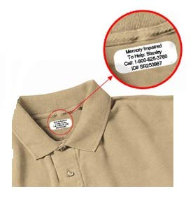 Iron on Clothing Labels - 100 - LARGE 3 or 4 line - Personalized with Your Text! Your choice of ink color. Black - Blue - Green (Green Label Clothes)