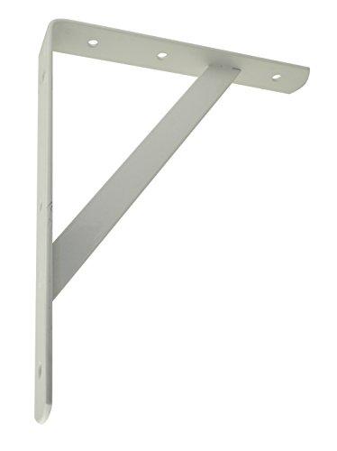 Trisonic Heavy Duty Shelf Bracket, Shelf Support Corner Brace Joint Right Angle Bracket, White 1210 PACK of 12 from Trisonic