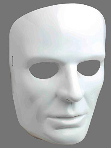 Forum Novelties 67838 Men's White Full Face Mask, One Size, Pack of