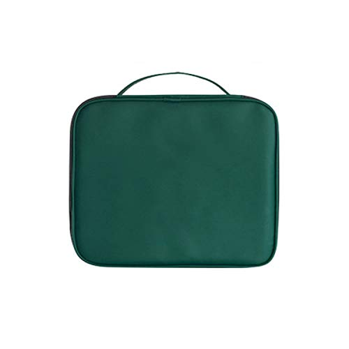 It's a big deal Portable Makeup Tote Bag Cosmetic Storage Bag Large Capacity Travel Toiletries Organize Packet,Green