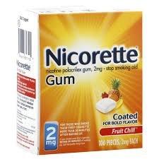 La gomme Nicorette Fruit Réfrigérer 2mg 100CT