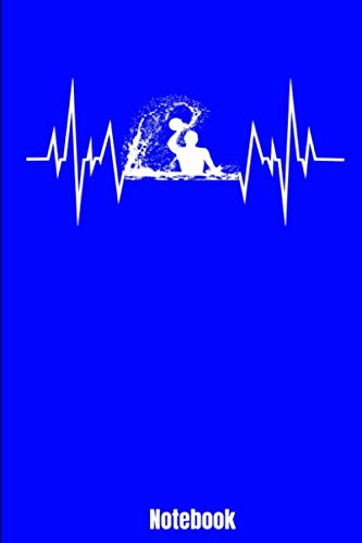Notebook: Water Polo Heartbeat ECG Line Gift Design 110 lined Pages 6'' x 9'' Notebook for Player and Coaches. Journal for your training, your notes ... Lovers as birthday gift or christmas present.