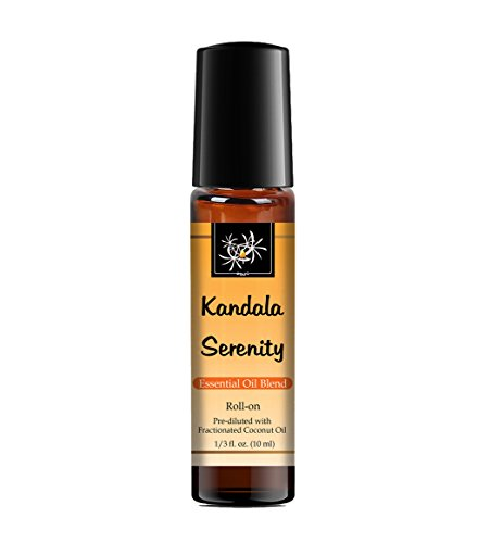 Serenity Stress & Anxiety Ease Essential Oil Blend - 10 ml Roll-on. Lavender, Marjoram, Cedarwood, Mandarin, Sage. 100% Pure, Therapeutic Grade for Aromatherapy, (Stress Essential Oil Blend)