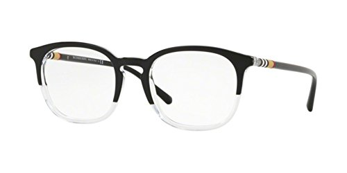 Burberry Men's BE2272 Eyeglasses Top Black On Crystal 53mm (53mm Optical Frames Burberry)