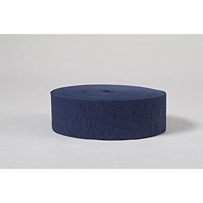 Crepe Streamers 2 Inches by 81 Foot Navy Blue Roll by Shindigz: Toys & Games