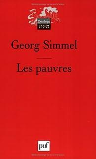 Les pauvres par Georg Simmel