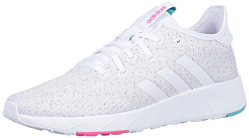 adidas Women's Questar X BYD Running Shoe, White/Shock Pink, 9 M US