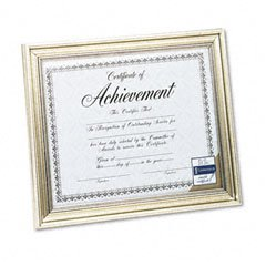 Antique Silver Document Frame with Certificate, 8-1/2 x 11 (Antique Silver Document Frames)