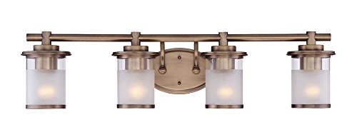 Designers Fountain 6694-Osb Essence 4 Light Vanity, Oil Satin Bronze (Bath Light Brass Satin)