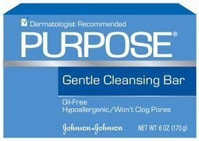Gentle Cleansing Bar (Purpose Gentle Cleansing Bar, 6-Ounce Bars (Pack of 6))