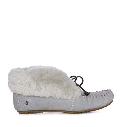 Australia EMU Moccasins Slippers Womens Grey Dove Sheepskin Burra 4qAw6qd