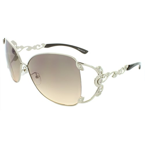 MLC EYEWEAR ® Polished Metal 59mm Square Sunglasses in Silver - Michael Jacobs Sunglasses