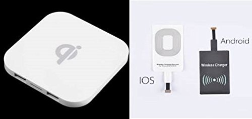 ✅SALE Iphone X 8 8 Plus QI wireless Charger & 2 Receivers for android and iphones