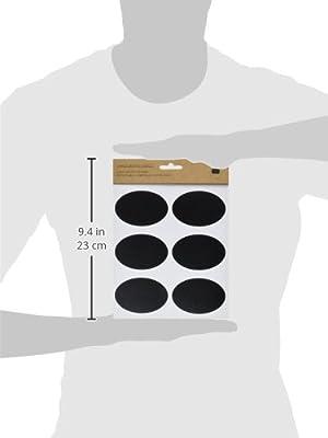 """Kel-Toy Oval Chalkboard Label Stickers, 2.9"""" x 2"""" (18 Pack)"""