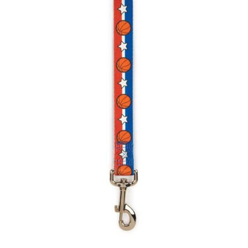 Casual Canine Polyester All-Star Dog Lead, 4-Feet, Basketball