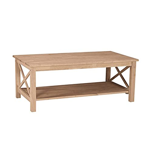 International Concepts OT 70C Hampton Coffee Table Unfinished