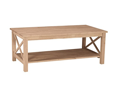International Concepts OT-70C Hampton Coffee Table Unfinishe