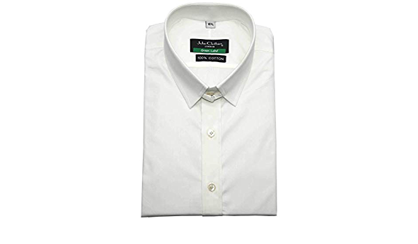 Camisa de manga larga para hombre, 100% algodón, cuello de ...