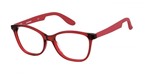 Carrera 5501 Eyeglass Frames CA5501-0BDA-5217 - Burgundy Matte Red Frame, Lens Diameter 52mm,