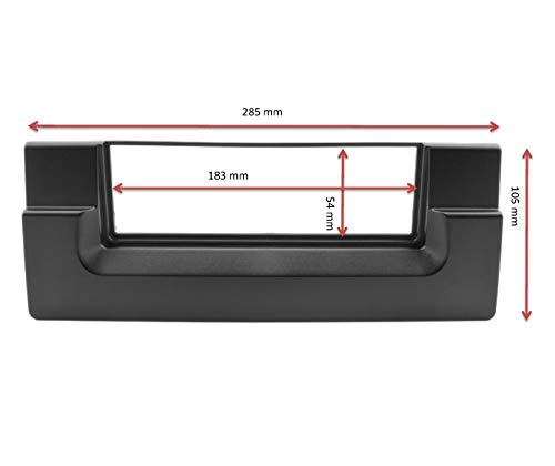 Watermark WM-3500S2 Kit de fa/çade dautoradio pour BMW S/érie 5 E39 /à partir de 1995 BMW X5 E53 Noir