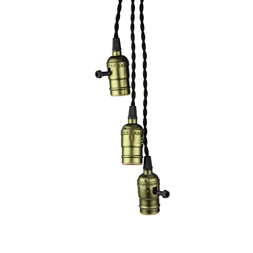 Pendant Light Kit With Switch : Supmart vintage triple light sockets pendant hanging