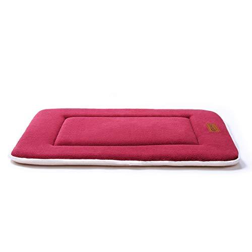 QIAOQI Dog/Cat Reversible Mattress Pet Fleece Crate Mat Machine Washable Kennel Bed Liner