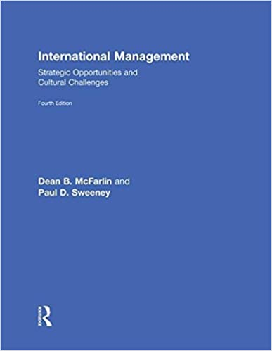 Book International Management: Strategic Opportunities & Cultural Challenges by Dean McFarlin (2010-07-29)