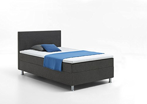 boxspringbett 120 200 grau kerryskritters. Black Bedroom Furniture Sets. Home Design Ideas