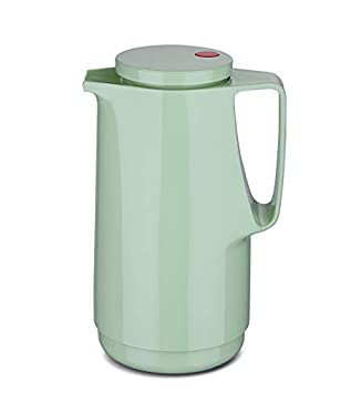 Glaseinsatz Kalthaltung Zweifunktions-Drehverschluss babysmurf Made in Germany BPA Frei- gesundes Trinken | Doppelwandige Vakuumisolierung Warm Rotpunkt Isolierkanne 760 1,0 l