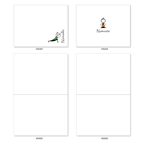 M3963 Namaste Notes: 10 Assorted Blank All-Occasion Note Cards Feature Zen Serenity Yoga Poses, w/White Envelopes. Photo #6