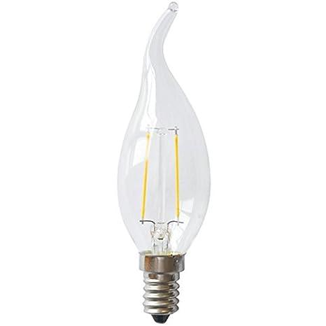 Bombilla LED de filamento tipo vela lagrima bohemia llama rosca E14 3w 2700K decorativa: Amazon.es: Iluminación