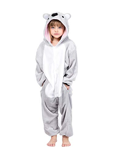 yolsun Animal Onesie Pajamas, Kids Cute Animal Costume for Winter (9-10y(suggest51-55), Koala) ()