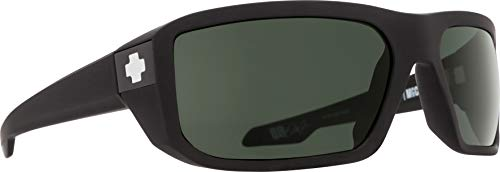 Spy Optic Men's Mccoy Rectangular, Soft Matte Black/Happy Gray/Green, 63 mm ()